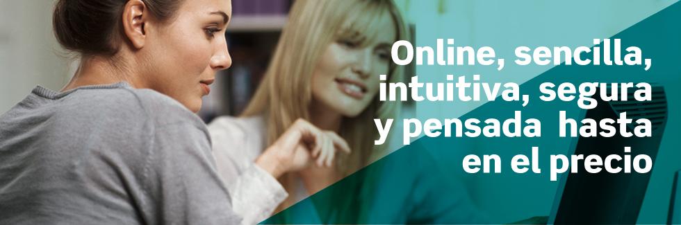 Online, sencilla, intuitiva, segura y pensada hasta en el precio